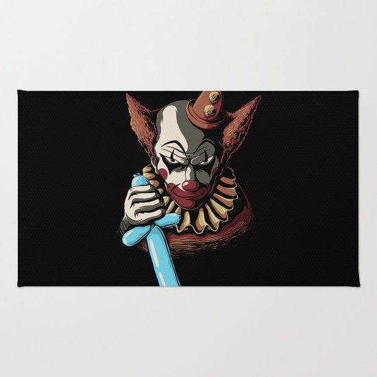 Clowns are Evil Rug