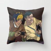 video games Throw Pillows featuring Video Games by Viktor Macháček