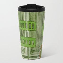Embedded in Green Travel Mug