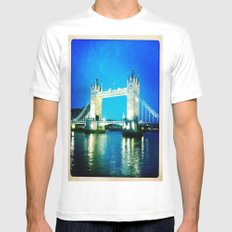 I love Tower Bridge MEDIUM White Mens Fitted Tee