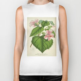 Vintage Botanical Floral Flower Plant Scientific Biker Tank
