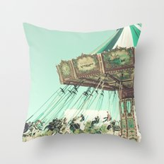 Winter Swing Chairs  Throw Pillow