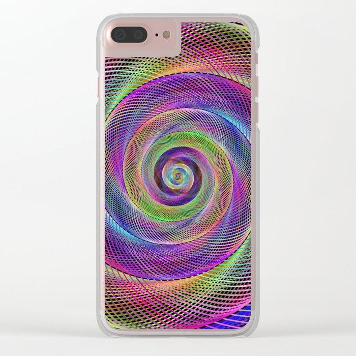 Spiral magic Clear iPhone Case