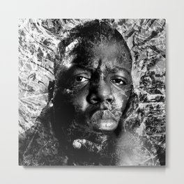 BIGGIE TRIBUTE (BLACK & WHITE VERSION) Metal Print