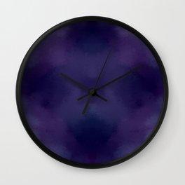 Deep Violet Tie Dye Wall Clock