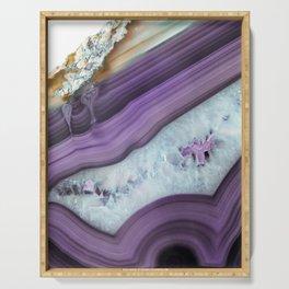 Purple Agate Slice Serving Tray