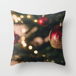 Christmas Photography - Christmas Tree Close-up Throw Pillow