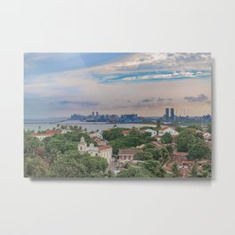 Aerial View of Olinda and Recife, Pernambuco Brazil Metal Print