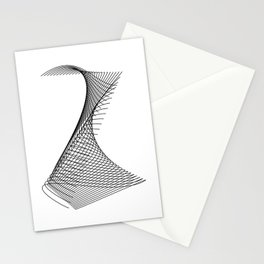 """""""Linear Collection"""" - Minimal Letter Z Print Stationery Cards"""