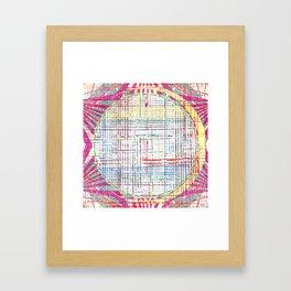 The System - pink motif Framed Art Print