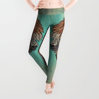 ornate Leggings featuring Ornate Llama by ArtLovePassion