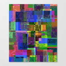 Colorful layered pattern 2 Canvas Print