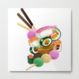 Sushi and Sweets - Full design Metal Print