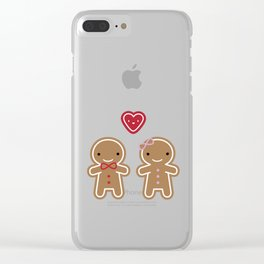 Cookie Cute Gingerbread Couple Clear iPhone Case