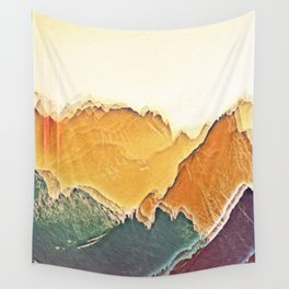 colour mountain Wall Tapestry
