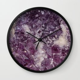 Deep Purple Quartz Crystal Wall Clock