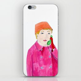 Doris Day on the phone iPhone Skin