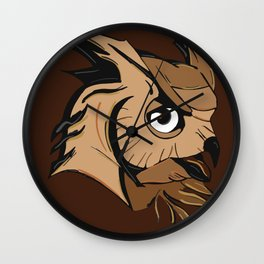 the great brown owl Wall Clock