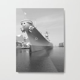 USS WISCONSIN photography Metal Print