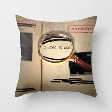 I used to work Throw Pillow