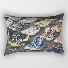 Sneakers shoes at a flea market Rectangular Pillow