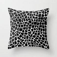 British Mosaic Black and White Throw Pillow
