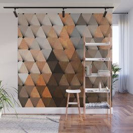 Triangles Brown Gray Wall Mural