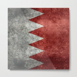 The flag of the Kingdom of Bahrain - Authentic version Metal Print