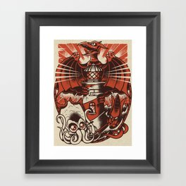 Kaiju Lighthouse Framed Art Print