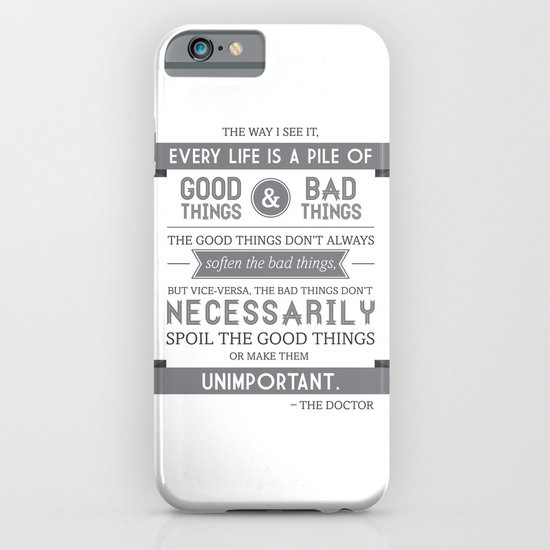 Good Things & Bad Things (gray) iPhone & iPod Case