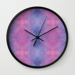 Kaleidoscopic design in soft colors Wall Clock