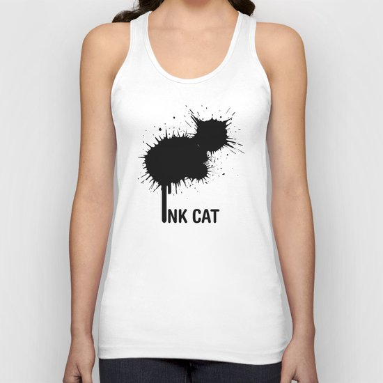 INK CAT Unisex Tank Top