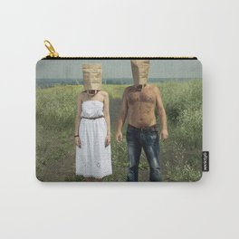 Paper bag couple Carry-All Pouch