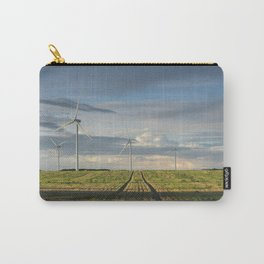 Wind turbines on a Windfarm at sunset. Norfolk, UK. Carry-All Pouch