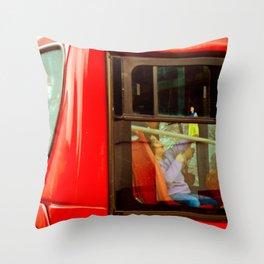 TRANSPORT OF BOGOTA COLOMBIA (TransMilenio). Throw Pillow