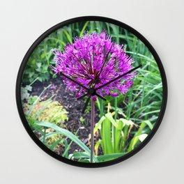 466 Allium FLower Wall Clock