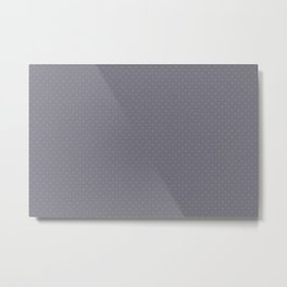 Pantone Lilac Gray Tiny Polka Dots Symmetrical Pattern Solid Color Metal Print