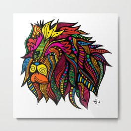 Psychedelic Cecil: A Tribute Metal Print