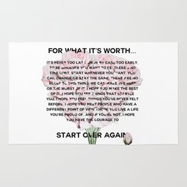 for what it's worth -  Fitzgerald life quote Rug