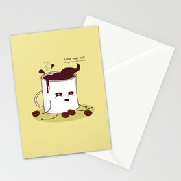 Coffee Mug Addicted To Coffee Stationery Cards