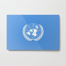 The United Nations Flag - Authentic Version Metal Print