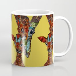 giraffe love ochre Coffee Mug