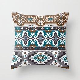 Modern Native American Pattern 5 Throw Pillow