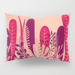 Pink plant Pillow Sham