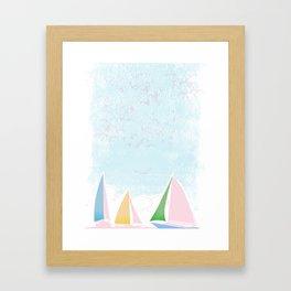 Sails for mee Framed Art Print
