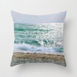 Old Silver Beach, Cape Cod Throw Pillow