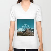 geometry V-neck T-shirts featuring Geometry by Geometry