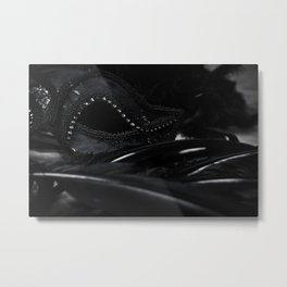 Feathers & Lace Metal Print