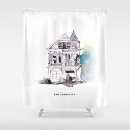 San Francisco Houses Shower Curtain