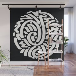 Calligraphy Coin Wall Mural